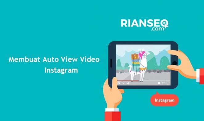 Cara membuat auto view video instagram