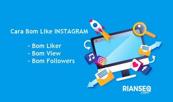 cara bom like ke foto orang lain di instagram
