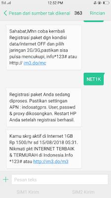 Cara Mengatasi Gagal Daftar Paket Internet Indosat Terbaru
