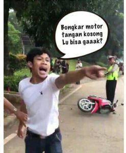 contoh konten viral pemuda banting motor pacar