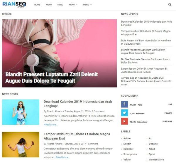 template blogger simple dan elegan 2019