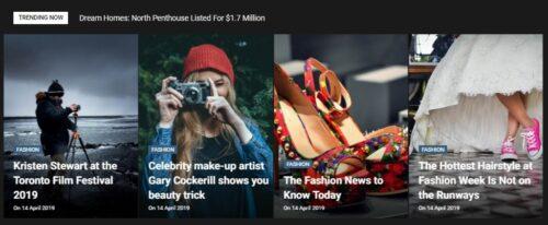 tampilan slider images post Carousel blogger template