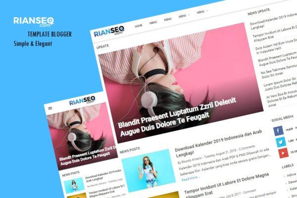 Template Blogspot Simple, Ringan & SEO Frendly