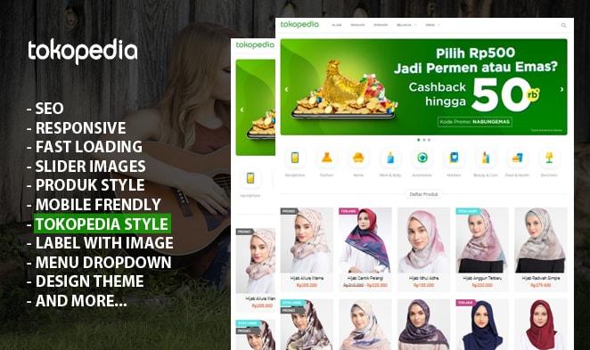 Template Blogger Kusus Jualan Online Mirip Tokopedia