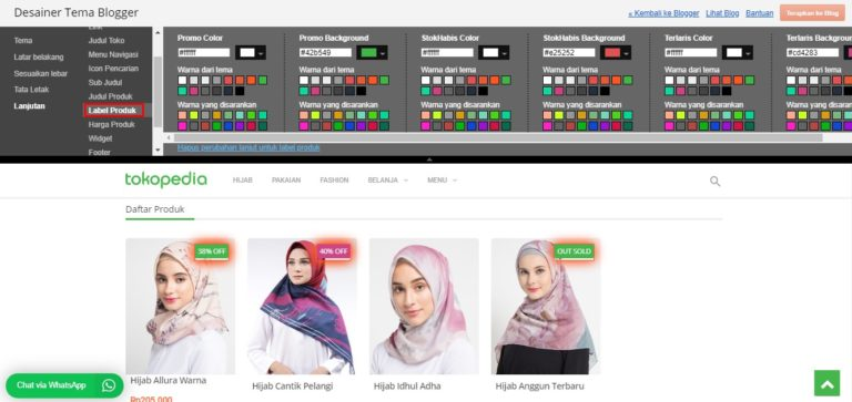 support desainer tema blogger