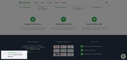 template toko online keren dan simple
