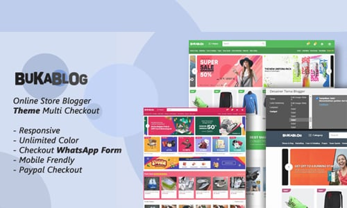 BukaBlog - Theme Online Store Blogger