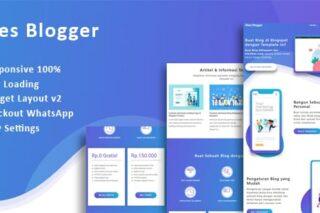 Sites Blogger - Landing Page Blogspot